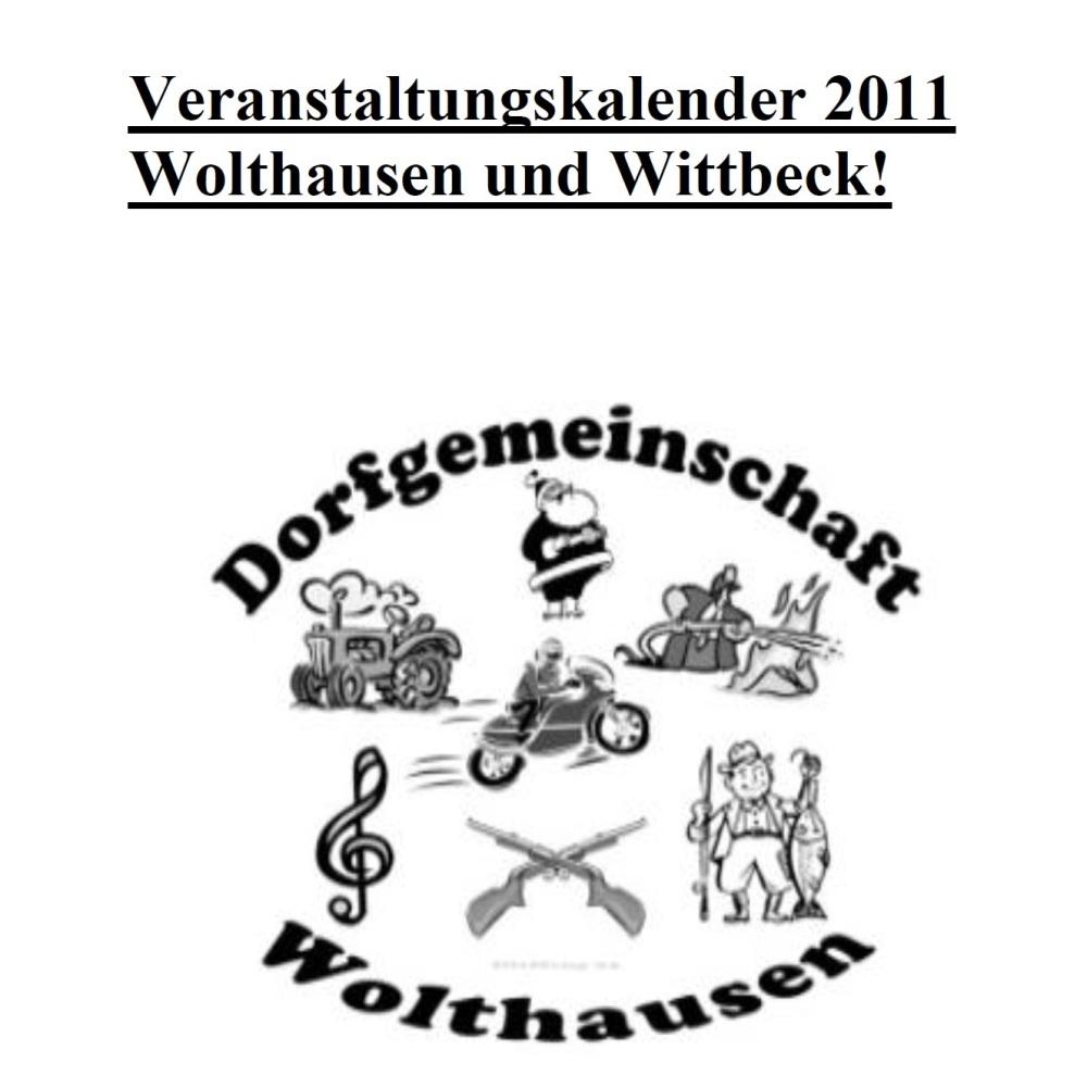 Veranstaltungskalender 2011 für Wolthausen und Wittbeck