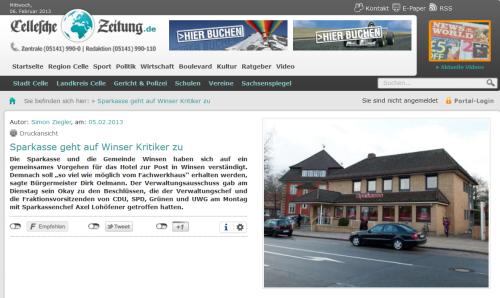 Bildquelle: Cellesche Zeitung Online