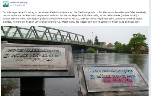 Screenshot: facebook, Cellesche Zeitung