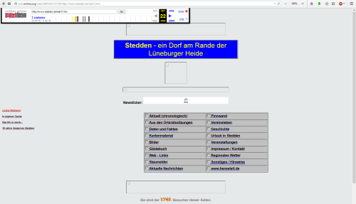 Screenshot: stedden.de Anno 2000