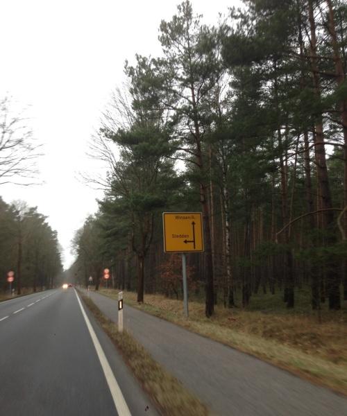 ...aus Richtung Celle...