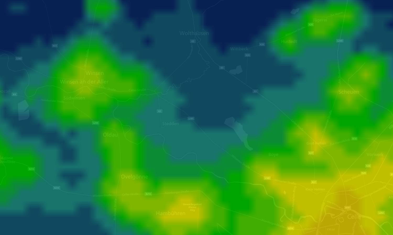 Lichtverschmutzung Karte 2019.Interaktive Karte Stedden