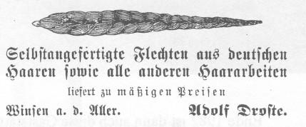 1904 - Haarwerbung
