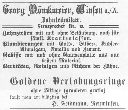 1904 - Zahnarztwerbung